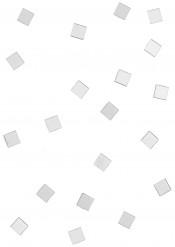 20 Mini miroirs carrés blancs