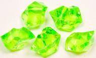 Pierres effet cristal vertes