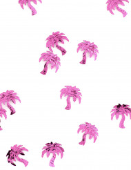 Confettis de table forme palmier fuchsia