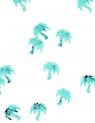 Confettis de table forme palmier turquoise