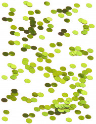 Confettis de table ronds verts