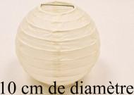 2 boules de décoration ivoire (Dia. 10 cm)