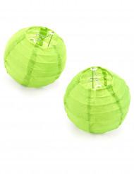 2 boules de décoration vert anis (Dia. 10 cm)