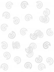 Confettis de table forme spirale argent
