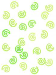 Confettis de table forme spirale fantaisie menthe