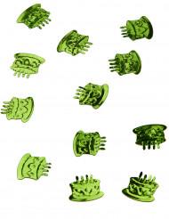Confettis de table forme gâteau d'anniversaire vert menthe