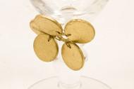 Décoration pour verre or