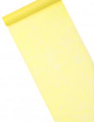 Chemin de table intissé uni jaune vif 10 m