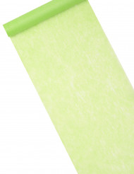 Chemin de table en intissé vert 10m