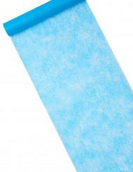Chemin de table intissé uni turquoise