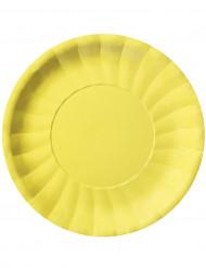 10 Assiettes plates Modus Jaune (29 cm)
