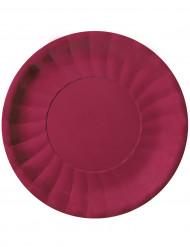 10 Assiettes plates Modus Bordeaux (29 cm)