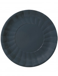 10 Assiettes plates Modus Noir (29 cm)