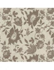 14 Serviettes en papier épais Beige motifs fleurs marron 40 x 40 cm