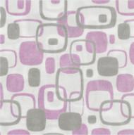 14 Serviettes en papier épais Grise motifs roses 40 x 40 cm