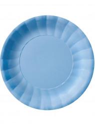 10 Assiettes creuses Modus Bleu Clair (22 cm)