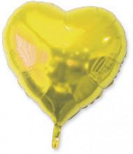 Ballon aluminium cœur doré 23 cm