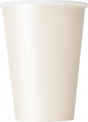 10 Gobelets ivoire en carton 355ml