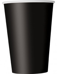 10 Gobelets noirs en carton 355 ml