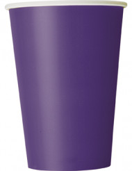 10 Gobelets en carton violets