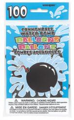 100 Ballons noirs bombe à eau
