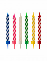12 Bougies multicolores