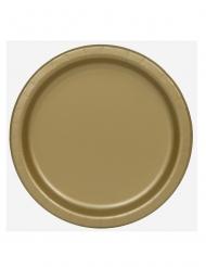16 Assiettes en carton doré 23 cm
