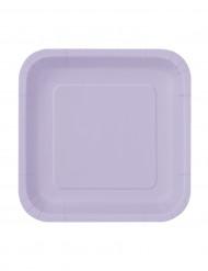 16 Petites assiettes en carton lavande
