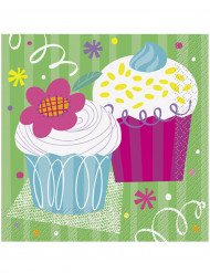 16 Serviettes en papier Cupcake Party 33 x 33 cm