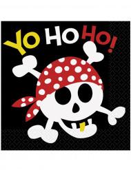 16 Serviettes en papier Pirate 33 x 33 cm
