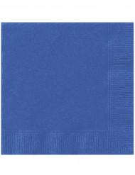 20 Serviettes en papier Bleues 33 x 33 cm