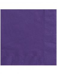 20 Serviettes en papier Violettes 33 x 33 cm