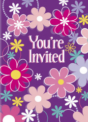 8 Cartes invitations Happy Birthday