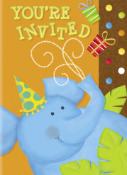 8 Cartes invitations Jungle Party
