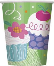 8 Gobelets en carton Cupcake Party