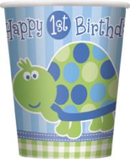 8 Gobelets en carton First birthday