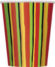 8 Gobelets en carton Fiesta stripes