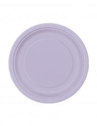 8 Petites assiettes lavande en carton 18 cm