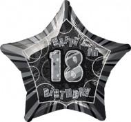Ballon étoile gris Age 18 ans