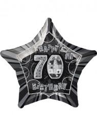 Ballon étoile gris Age 70 ans
