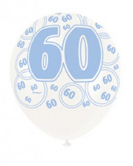 Ballons bleus Age 60 ans