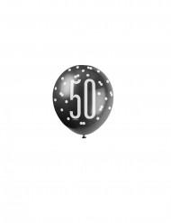 Ballons gris 50 ans