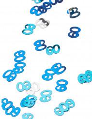 Confettis bleu/gris Age 60 ans