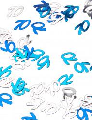Confettis bleu/gris Age 70 ans