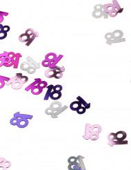 Confettis rose/gris Age 18 ans