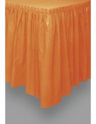 Jupe de table orange en plastique