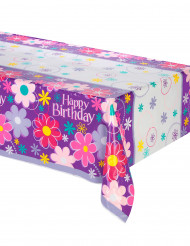 Nappe en plastique Happy Birthday