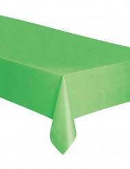 Nappe rectangulaire en plastique vert citron 137 x 274 cm