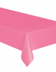 Nappe rectangulaire rose en plastique