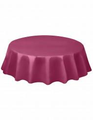 Nappe ronde en plastique bordeau 213 cm